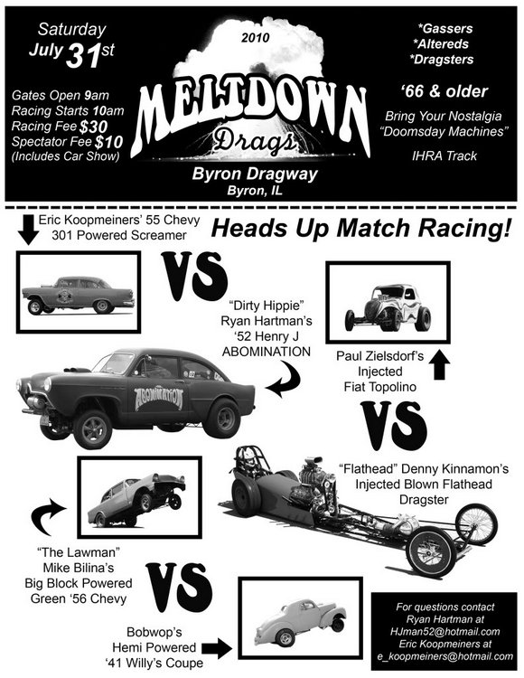 Meltdown Drags 2010 Byron Dragway flyer